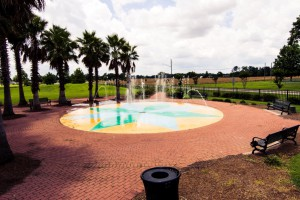 The fountains at the Summerdale, Alabama Splash Park