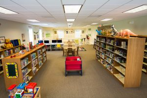 A view of the children's section at the Sumerdale Library